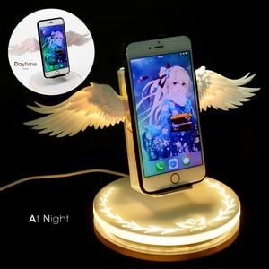 Image 5 - Qi Беспроводная зарядная док станция 10 Вт ангельские крылья 3,0 быстрое зарядное устройство Тип C для iPhone X XR 8 Plus Smasung S9 S10 Plus для huawei P30 Xiaomi