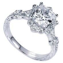 Square Diamond Princess Rings 18K White Gold Carved Finger Anillo De Jewelry Gemstone Bizuteria for wedding Women love mom