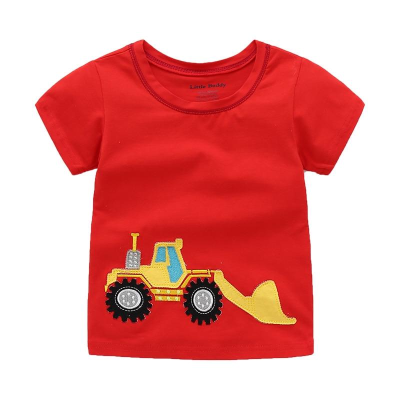2021 meninos camiseta crianças roupas de verão topos trator koszulki t camisa da criança menino tshirt infantil menino koszulka camiseta