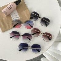 Mais novo legal polígono em forma de hexágono óculos de sol feminino óculos de proteção uv óculos de sol feminino quadro motorista carro accessorie|Óculos de motorista| |  -
