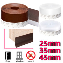 5m Door Bottom Sealing Strip Tape Weather Window Silicone Rubber Weatherstrip Windproof Dust Self Adhesive Windshield Tape