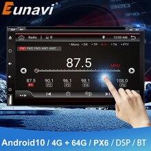 Eunavi 2 din android 10 rádio do carro dvd universal 2din 6.95 player player navegação gps áudio estéreo autoradio unidade central do computador multimídia player