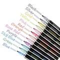 12 цветов, металлический маркер, контурная ручка, блестящий красочный альбом «сделай сам», скрапбукинг, маркер, ручка для рисования, рисовани...