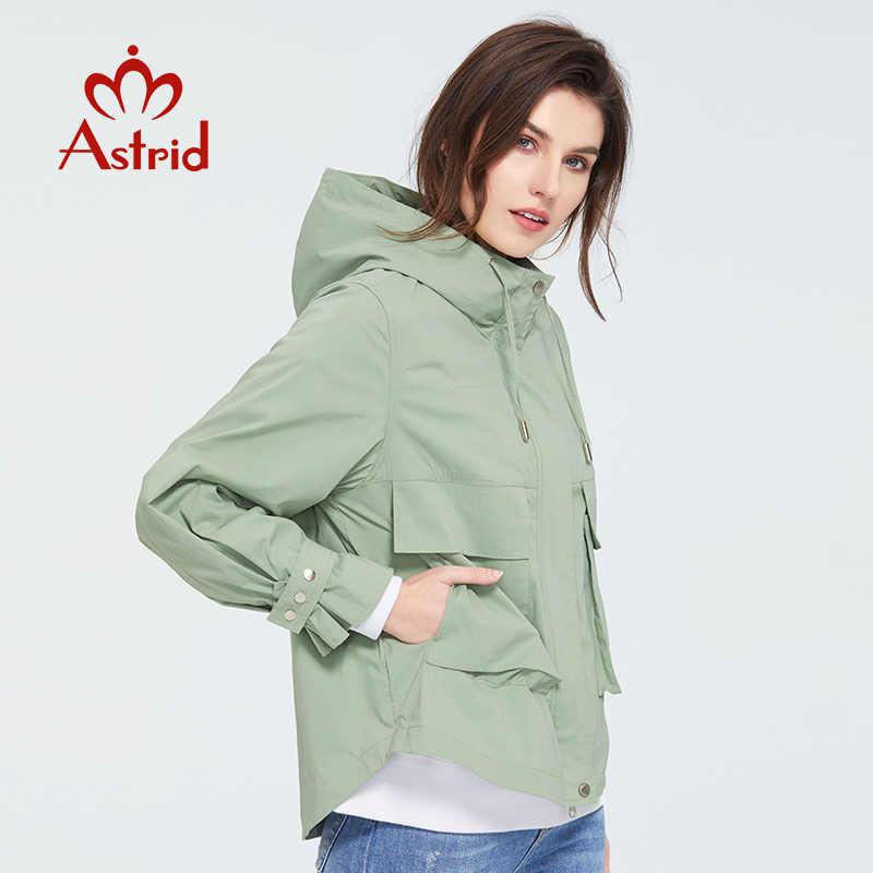 Astrid 2020 nueva llegada de primavera moda joven gabardina corta mujeres de alta calidad prendas de vestir femeninas urbanas abrigo tendencia ZS-7086