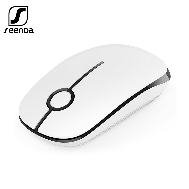 SeenDa Silent Wireless Mouse 1600 DPI 2.4GHz Optical Wireless Mice for Laptop Computer Notebook PC Slim Noiseless Mouse image