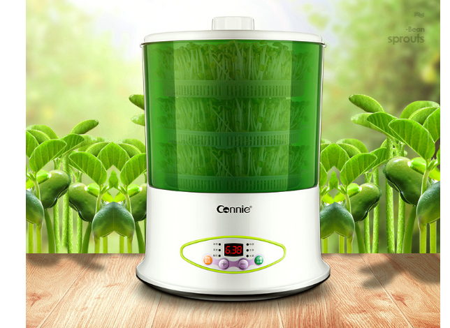 Microcomputer Control Of Three-storey Multifunctional Automatic Bean Sprouts Machine For Household Use