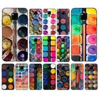 Paleta de pintura de juego de acuarelas de colores, funda de teléfono para huawei mate 10 20 lite pro X Honor play Y6 5 7 9 prime 2018 2019