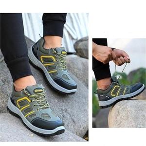 Image 5 - JACKSHIBO Mannen Veiligheid Werk Schoenen Laarzen Security Anti smashing Stalen Neus Veiligheid Werkschoenen Mannen Onverwoestbaar Laarzen Werken schoenen