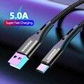 5А USB Type C кабель провод для Samsung S10 Plus Xiaomi mi9 мобильный телефон Быстрая зарядка USB C кабель Type-C зарядное устройство Micro USB кабели