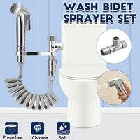 4 Teile/satz Wc Bidet Sprayer Set Sprayer Pistolen Dusche Handheld Hand Bidet Wasserhahn Bad Tap Hand Sprayer Dusche Kopf Selbst reinigung