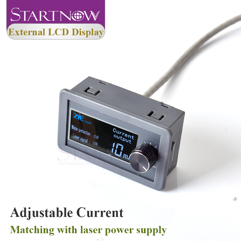Startnow LCD Display Current Meter For Test CO2 Laser Power Supply External Screen DIY MYJG Series Monitor Equipment Parts