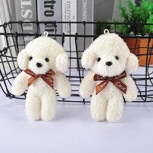 Key-Chain Plush-Dolls Dog-Toys Gift Stuffed Height White Dog Dog-Long-Haired Kid's