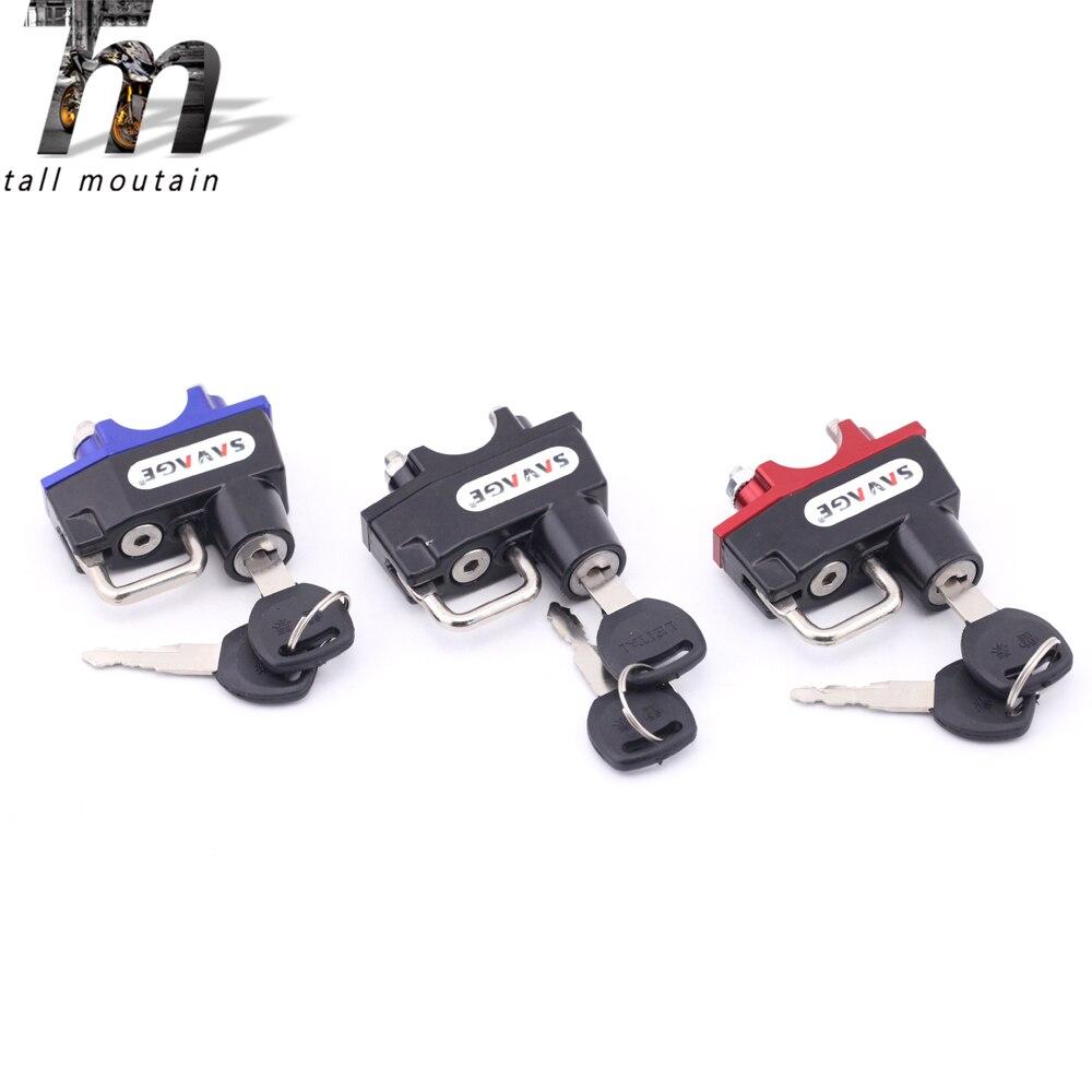 Helmet Lock Handlebar Clamp For HONDA CTX 700/1300 NC 700S/700DCT/700X/750S/750DCT/750X CMX250 Rebel MSX125 Grom MSX 125 SF