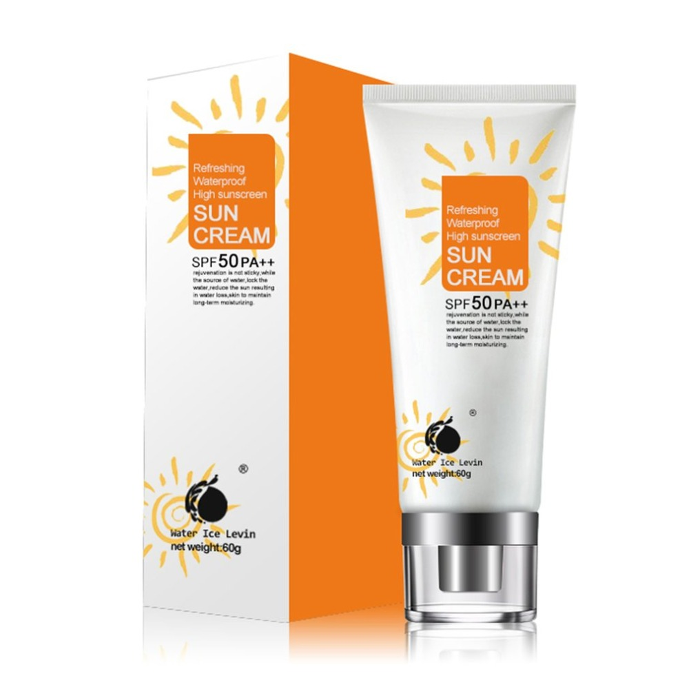 SPF50/PA++ Women Sun Whitening UV Blocking Emulsion Sun Screen Cream 60G Ultraviolet Radiation Protective Cream