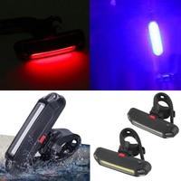 Luce posteriore anteriore per bicicletta multimodale LED ricarica USB luce per bici impermeabile ciclismo avviso di sicurezza fanale posteriore accessori bici