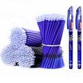 53Pcs/lot 0,38mm Löschbaren Waschbar Stift Refill Stange für Griff Blau/Schwarz Tinte Gel Stift Schule büro Schriftlich Lieferungen Schreibwaren