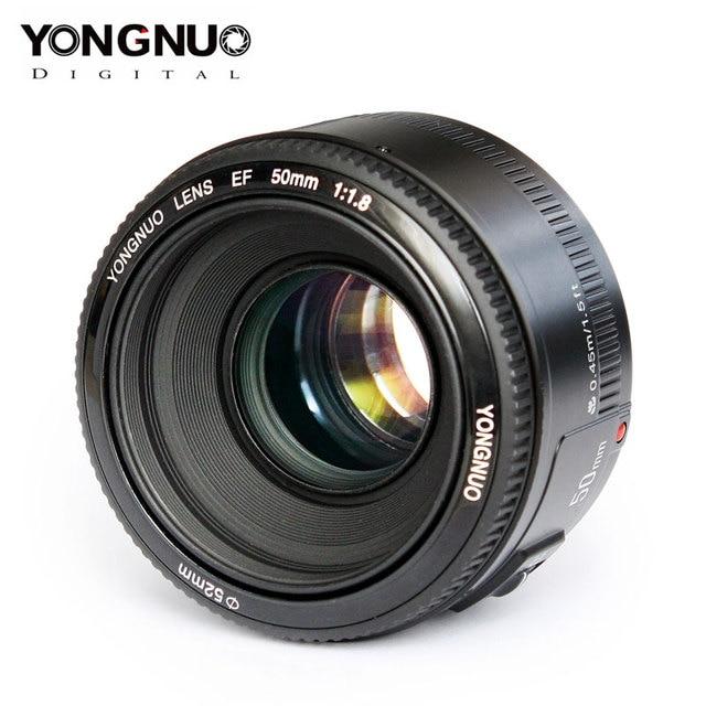 Hohe Qualität YONGNUO YN EF 50mm f/1,8 AF Objektiv für Canon EOS 350D 450D 500D 600D 700D kamera Objektiv Blende Auto Fokus YN50mm Objektiv