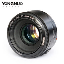 Lentes para canon eos 350d 450d 500d 600d 700d, yongnuo yn ef, 50mm f/1.8 af lente da câmera com foco automático, lente yn50mm