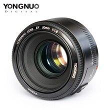 Yüksek kaliteli YONGNUO YN EF 50mm f/1.8 AF canon lensi EOS 350D 450D 500D 600D 700D kamera Lens diyafram otomatik odaklama YN50mm Lens