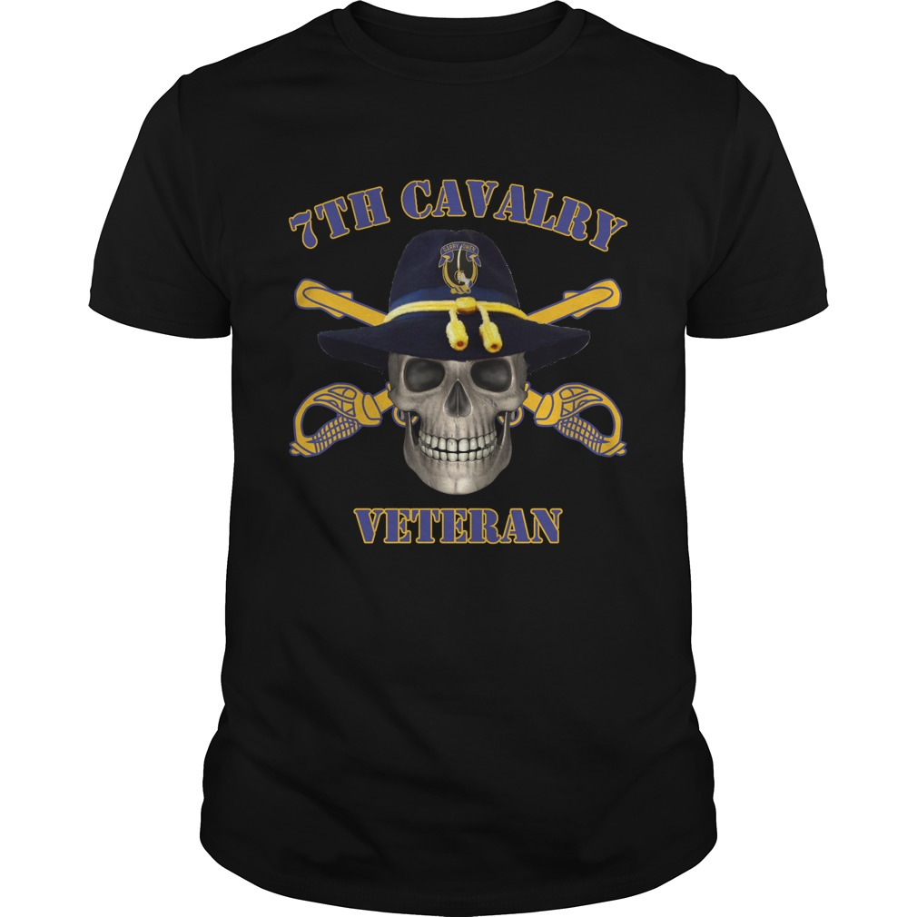 7th Cavalry Regiment Army Unit Of Seventh Cavalry Veteran Men's T Shirt