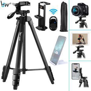 Штатив для камеры, планшета, 60 дюймов/150 см, алюминиевый штатив для телефона Xiaomi, iPhone, iPad, DSLR, камеры с держателем для пульта дистанционного уп...