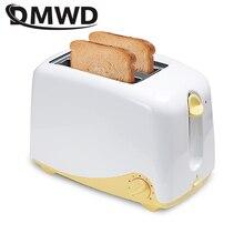 DMWD 2 слота автоматический электрический тостер для выпечки хлебопечки машина для завтрака мини тост сэндвич гриль печь нагреватель ЕС вилка