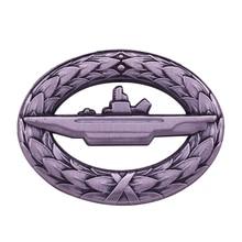 German Navy Kriegsmarine WWII Submarine U-Boot War Badge With a Wreath of Oak Leaves