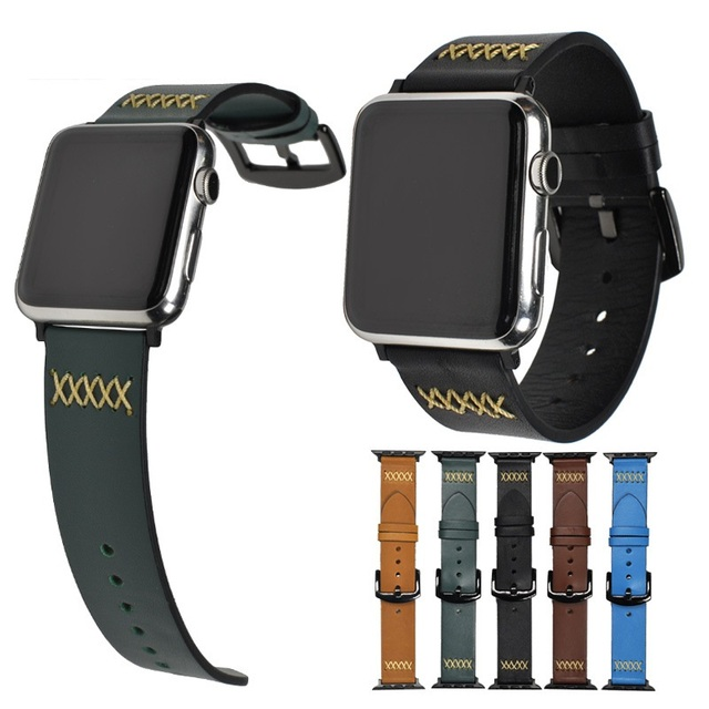 Leather pulsos band for Apple Watch 5