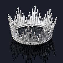 New Silver Gold Crystal Bride Tiara For Weeding Rhinestone Crown Bridal Tiaras Head Jewelry Diadem Headbands Wedding Headdress