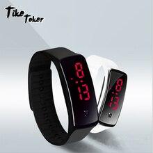 Tike + Toker + Led + квадрат + электронные + часы