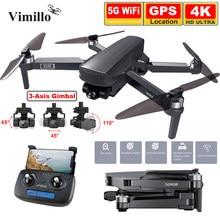 Profissional do zangão 4k gps de sg908 com câmera cardan 3-axis 1200m de longa distância 5g wifi fpv sem escova quadcopter dron pk sg906