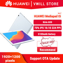 Original Huawei Honor MediaPad T5 10.1 inch tablet PC 4GB 64GB Kirin 659 Octa Core Android 8.0 Fingerprint unlock