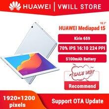 Orijinal Huawei onur MediaPad T5 10.1 inç tablet PC 4GB 64GB Kirin 659 Octa çekirdek Android 8.0 parmak izi kilidini