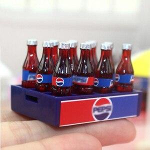 Мини-кокс для напитков, 1 набор, 12 шт., 1/12 кукольный домик, миниатюрная кукла для еды, напитков, Play, кухонная игрушка, подходит для аксессуаров Ob11