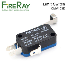цены FireRay Limit Switch High Quality Small Limit Switch CMV103D Momentary Micro Switch Long Handle for CO2 Laser Cutting machine