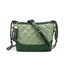 Genuine Leather Bags For Women 2019 Luxury Brands Designer Handbags  Chains Crossbody Bag Ladies Clutch Shell Shoulder Bag цена 2017