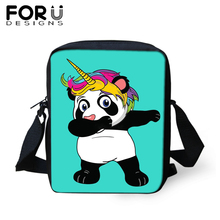 FORUDESIGNS Brand Messenger Bag for Teenager Girls Panda Unicorn Print Shoulder Women Kids Mini Satchel Crossbody Purse Tote