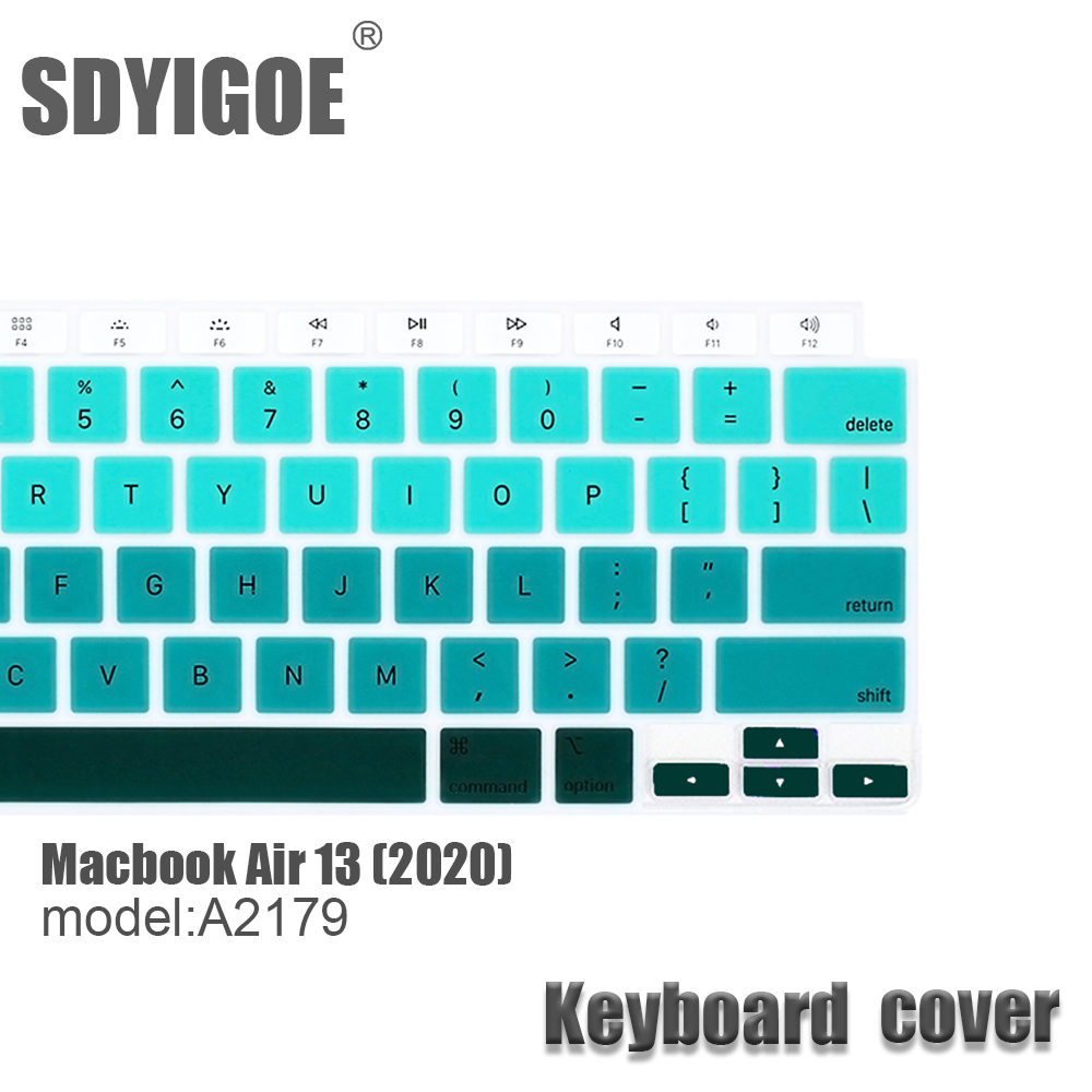 2020 Air13 Keyboard Cover For Apple MacBook Air model A2179 Laptop Keyboard Case Color Silicone Protection Cover Mac Accessories