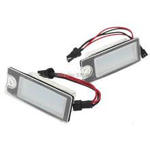 2 Pçs/set 18 Número LEVED License Plate Lamp Luz para Volvo Carro S80 99-06 S60 V70 XC70 XC90