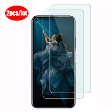 2pcs protective glass on For huawei honor 20 pro 10 lite light honer 8x 8c 8s 10
