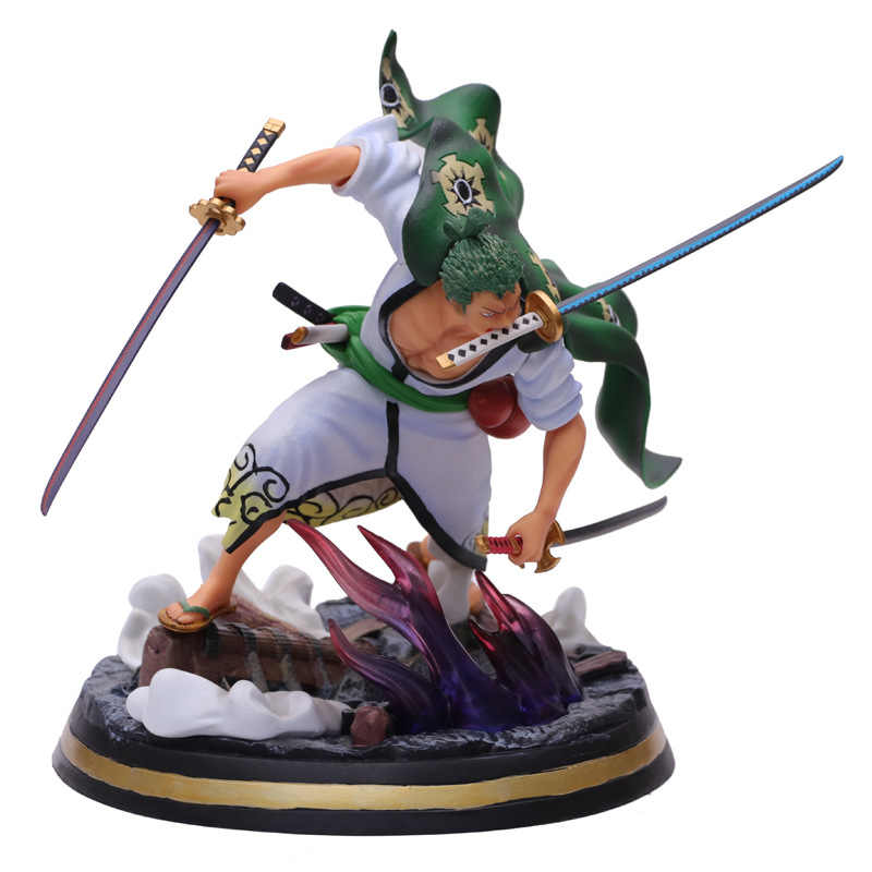One Piece Wano Roronoa Zoro Statue PVC Figure Model Gifts Toys 31cm New