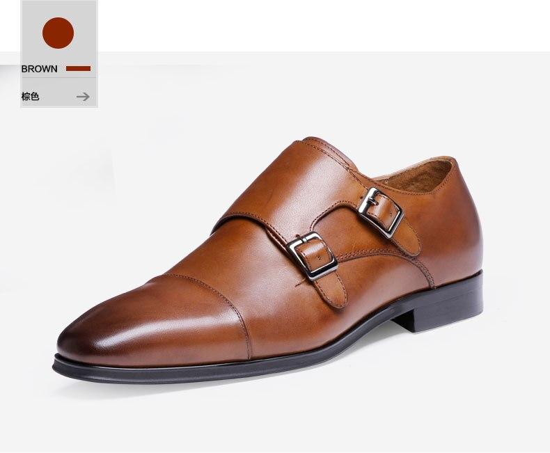 luxo couro genuíno sapatos oxford apontou toe