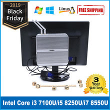 Intel Core i5 8250U minipc i5 7200U Kaby göl fansız bilgisayar i3 7100U Windows 10 masaüstü Barebone i7 8550U pc