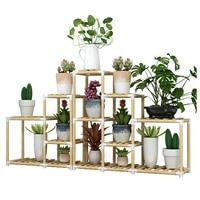 Flor de madeira airs multi andares indoor bay janela tipo de pouso uma sala estar varanda ao ar livre botânica bacia rack|Prateleiras de plantas| |  -