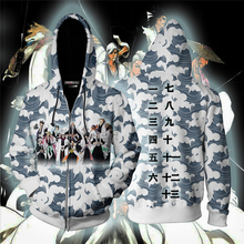 купить Men and Women Anime Zip Up Hoodies Anime Bleach Hoodie 3d Hooded Sweatshirt Cosplay Costumes Tracksuit Harajuku Streetwear Coat по цене 1339.75 рублей