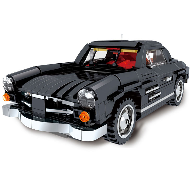 Creator Photpong Dubai Classic Racing Car MOC Technic Sports Car Model Kit Assembled Building Blocks Sets Bricks Kids Toys Gift