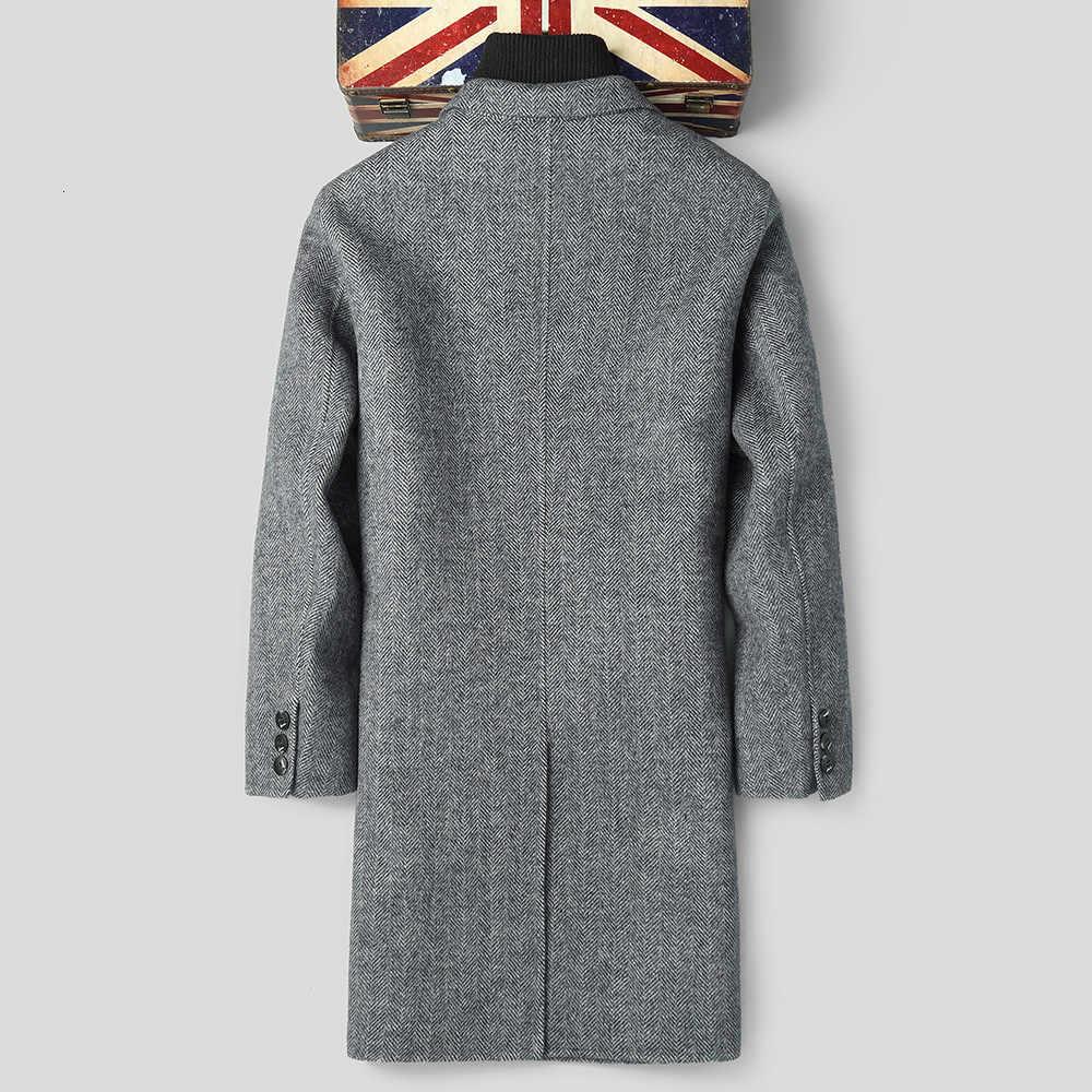 Dwustronnie wełniany płaszcz jesień kurtka zimowa mężczyźni 100% płaszcze z wełny Blazer mężczyźni wiatrówka długie kurtki F-ALMN-1820 MY1871