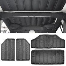 Car Roof Hardtop Sound Deadener Thick Durable Headliner Hinges Heat Insulation for Jeep Wrangler JK 12-17 4 Door