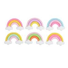 20 шт/упак матовое облако радуга серьги декоративные материалы