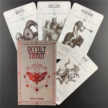 Okultystyczne karty tarota angielska wersja zabawa stół pokładowy wróżbiarstwo los gry planszowe gra na imprezę tanie i dobre opinie CN (pochodzenie)